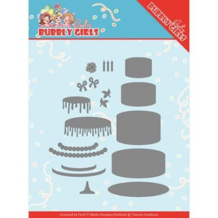 Yvonne Design Dies - Bubblu Girls Party Birthday Cake - YCD10202