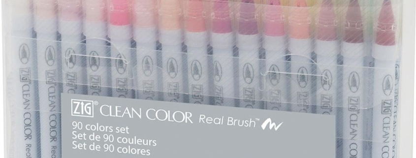 ZIG Clean Color Real Brush Marker - Set 90