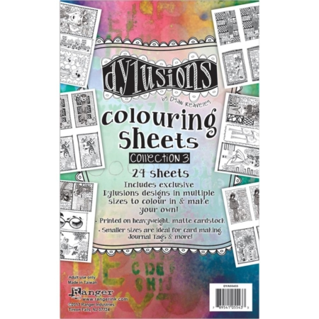 Dylusions - Dyan Reaveley's Coloring Sheets #3 - DYA55433