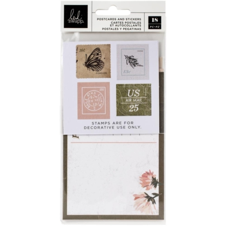 Heidi Swapp - Storyline Chapters Postcards and Stickers - 315338