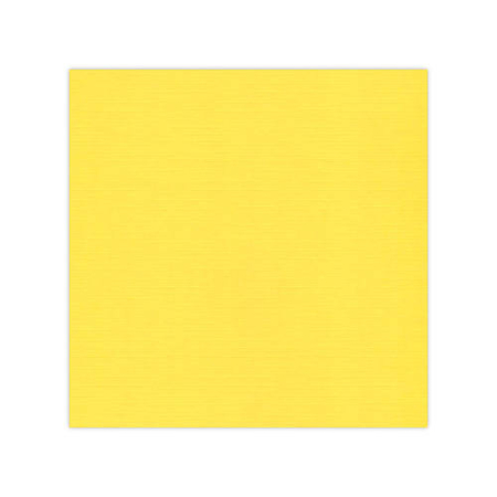 "Linnen karton 12x12"" - Bright Yellow - 582006"