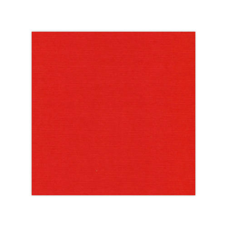 "Linnen karton 12x12"" - Christmas Red - 582034"