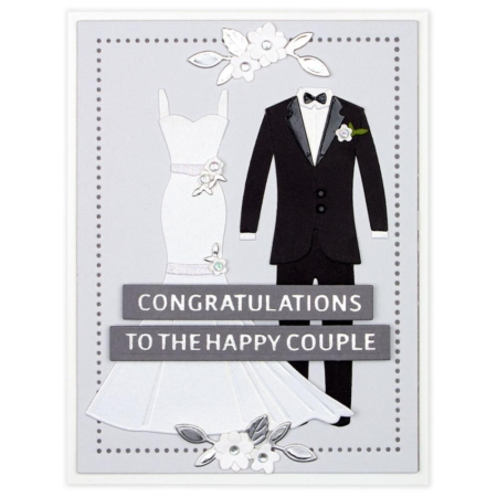 Spellbinders Die - Wedding Dress & Tux - S4-1057