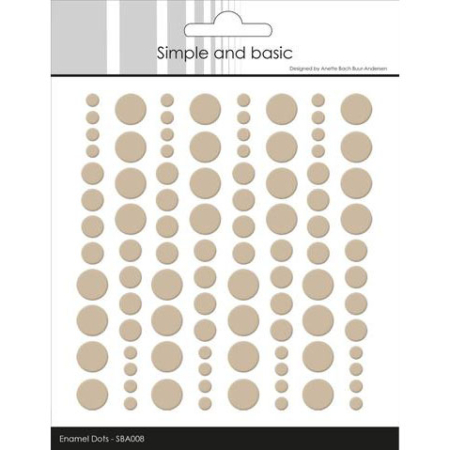 Simple and Basic Enamel Dots - Baileys Brown - SBA008