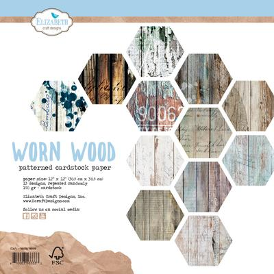 Elizabeth Craft Designs Paper - Worn Wood - C004