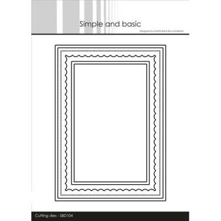Simple and Basic Dies Card Base Rectangle w/inlay - SBD104