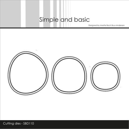 Simple and Basic Dies - Organic Holes - SBD110