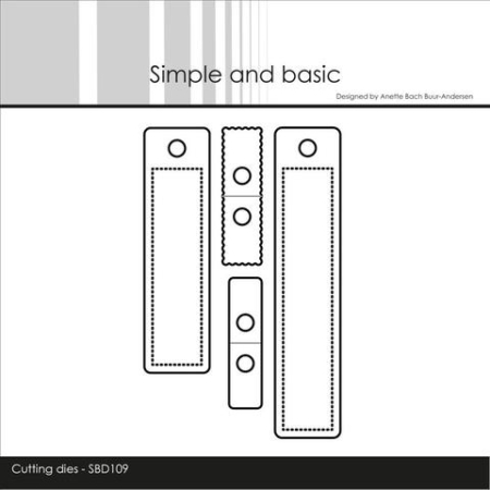 Simple and Basic Dies - Small Labels - SBD109