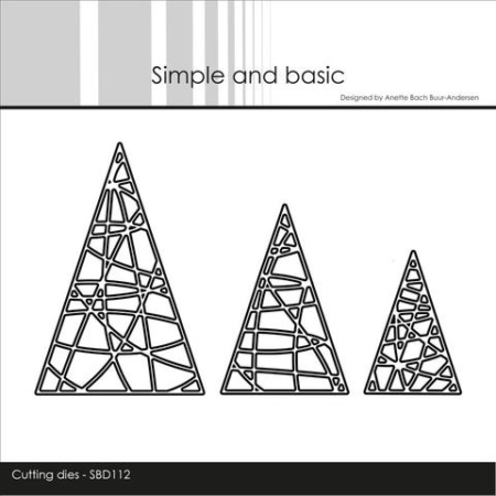 Simple and Basic Dies - String Christmas Trees - SBD112