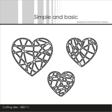 Simple and Basic Dies - String Hearts - SBD111