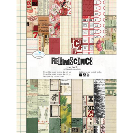 Elizabeth Craft Designs Paper - Reminisince The Book - PB01