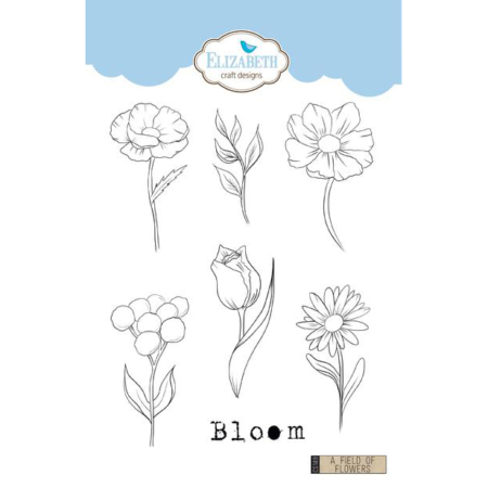 Elizabeth Craft Designs Stamp - A Field of Flowers