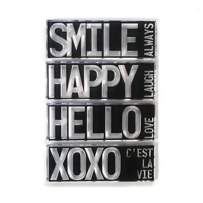 Elizabeth Craft Designs Stamp - Block Words - Hello - CS194