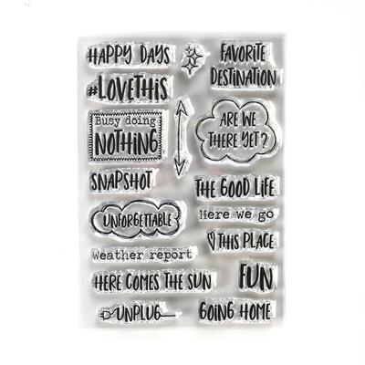 Elizabeth Craft Designs Stamp - Destination Phrases - CS191