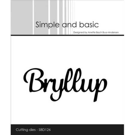 Simple and Basic Dies – Bryllup – SBD126