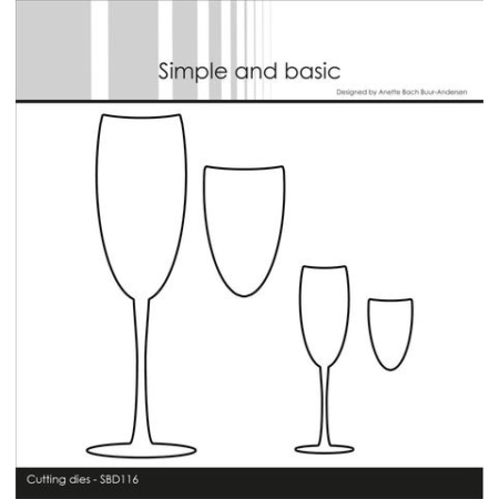 Simple and Basic Dies – Champagne Glasses – SBD116