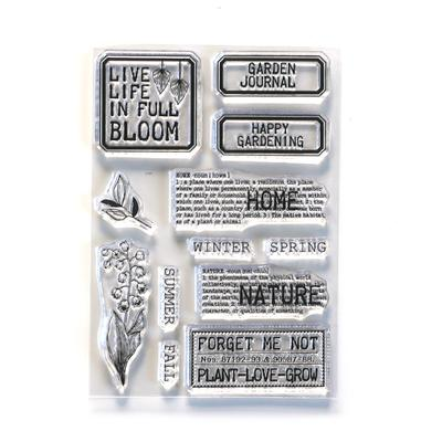 Elizabeth Craft Designs Stamp - Home & Nature - CS213