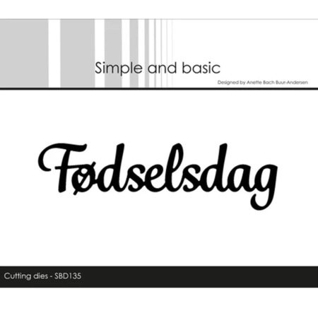 Simple and Basic Dies - Fødselsdag - SBD135
