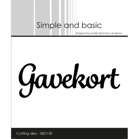 Simple and Basic Dies - Gavekort - SBD130