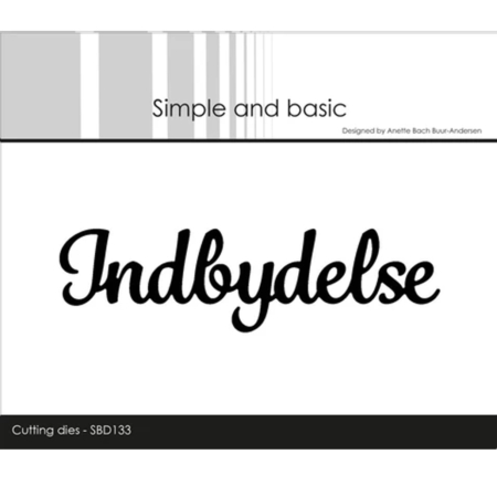Simple and Basic Dies - Indbydelse - SBD133