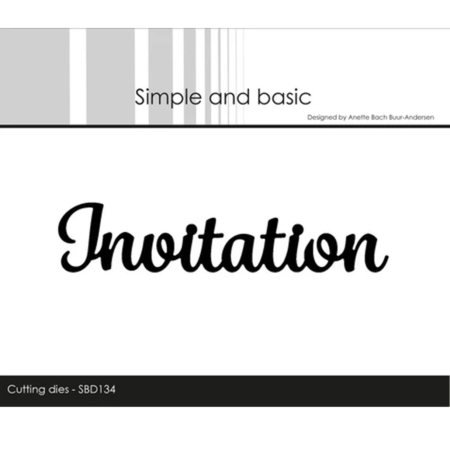 Simple and Basic Dies - Invitation - SBD134