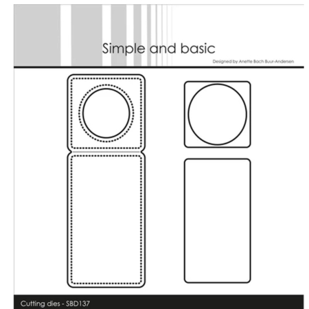 Simple and Basic Dies Mini Piecerd Bottle Label - SBD137