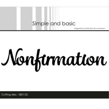 Simple and Basic Dies - Nonfirmation - SBD132