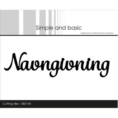 Simple and Basic Dies - Navngivning - SBD144
